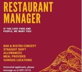 Restaurant Manager / Assistant Manager