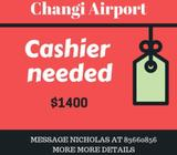 Temp Cashier | $1400/ month | Changi Airport