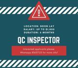 QC Inspector @ Boon Lay 6 months