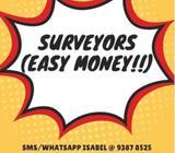 $1800/MTH  EASY JOB (Indoor Surveyor)  6 mth  Bedok/Parkway