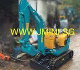 1 Ton Kubota U10-3 Super Micro Mini Excavator with Rubber Track and Hydraulic Breaker in Singapore