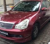 Nissan Sylphy 1.6A for rent @ JJ GARAGE CAR RENTALS