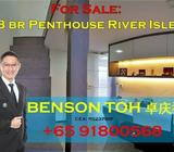 Below Valuation! 3 Bedroom Penthouse for Sale @ River Isle District 19 Punggol