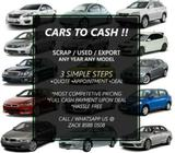 SCRAP / USED / EXPORT CARS WANTED