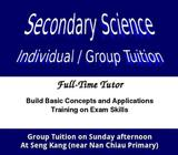 Secondary Science Tuition (one to one / Group)