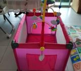 Playpen - Pink 0 to 24 Months, carry capacity up to 20 Kg, with 4 inch mattress HARDLY USED