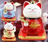 Solar-Powered Happiness, Prosperity and Longevity Fortune Cats