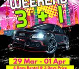 Budget Car for rent - Weekend Hot Promo 3+1 for selected cars. Do Not Miss!