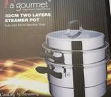 La gourmet 32cm 18/10 Stainless Steel 2 Tier Steamer Pot