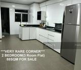 **VERY RARE CORNER 2 BEDROOM(3 Room Flat) 88SQM FOR SALE**