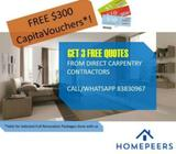 3 Free Quotes from Direct Carpentry Contractors