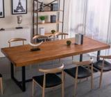 TSDT00D, CSC021, Solid Wood Dining Table/Office Table/Meeting Room Table, Dining Chair Type D