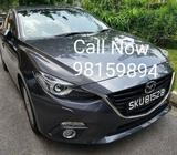 Car Rental <<<2015 Madza 3 1.5A For Rent >>>
