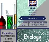 IBDP Chemistry, Biology & Physics Tuition (all locations)