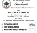 Looking for Certified MOE/Ex-MOE Tuition Teacher Island-Wide?