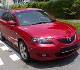 Mazda 3 for Rent ( Various Colour - Many Units Available )