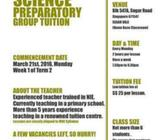 PSLE Science Preparatory Class (Primary 6)