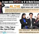 Are you DYING in Math & Science??? If so, this is a MUST to attend!