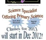 Science Specialist offering Primary Science small group tuition classes!