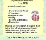 Pre-Primary English Class