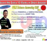 PSLE Science Answering Skill Workshop is available NOW!
