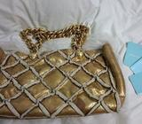 Used Samantha Thavasa Gold Bag
