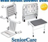 Nylon Wall Mounted Shower Seat with Backrest