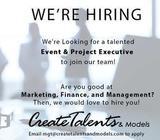 Create Talents and Models Job Vacancy - Event & Project Executive
