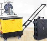 FOLDABLE PORTABLE TROLLEY BOX BEST FOR SHOPPING, MARKET, MOVING HOUSE
