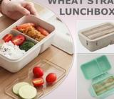 Lunch Box Wheat Straw Lunch Box Eco Enviromential Lunch Box with Cutlery Chopstick and Spoon