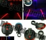 5 LED 2 Lasers Bicycle Safety Light