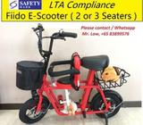 Fiido Electric Scooter ( 2 or 3 Seats, Baby Seat, LTA Compliance)