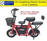 Fiido Scooter (2 or 3 Seats, LTA Compliance)