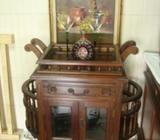 antique small wine cabinet