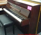 Cheap used piano, YAMAHA used piano, brown color, Singapore piano shop