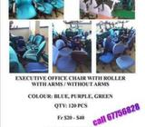 OFFICE CHAIR WITH ROLLER (ARM / NO ARMS)