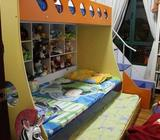 Kids Bunk Bed (2 story bed) + drawer bed