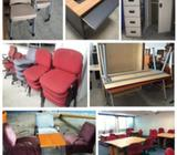 USED OFFICE CHAIR/ TABLES/CABINET FOR FAST CLEARANCE !!