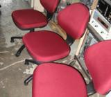 Office Chair / Roller - Red Color (Like New)