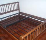 Queen size wooden bed frame wardrobe and drawer