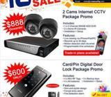CCTV cameras and Digital Door lock Promotions