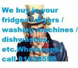 We buy Used appliances (All Brands / All Models)