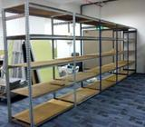 Tables, Metal Racks, Warehouse Racks, Chairs, Phones, fridge