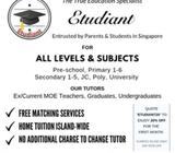 Looking for Certified MOE/Ex-MOE Tuition Teacher Around Commonwealth? (Island-Wide Included)