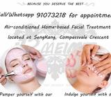 Homebased facial service at Sengkang