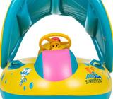 Inflatable Pool Float w Adjustable Sunshade Canopy