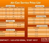 *AIR-CON SERVICES PRICE LIST WITH 10% DISCOUNT*