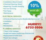 *CHEAPEST AIRCON/ELECTRICAL/PLUMBING SERVICES WITH 10% OFF*