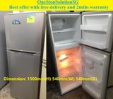 LG (188L), 2 doors fridge / refrigerator ($180 + FREE delivery and 2mths warranty)