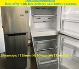 Samsung (322L), 2doors refrigerator  / fridge  ($300 + free delivery amd 2mths warranty)